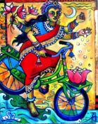 "Lakshmi Rides Again - 24"" x 30""- SOLD"