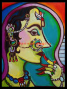 "Rajasthani Beauty 1 - 18"" x 24"" - SOLD"