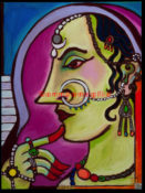 "Rajasthani Beauty 2 - 18"" x 24""- SOLD"