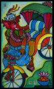 "Rickshaw Pokhara - 24"" x 40""- SOLD"