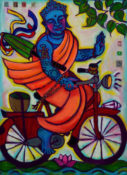 "Riding to Enlightenment 1 - SOLD- 22"" x 30"""