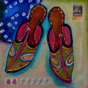 "Raj Slippers 2 - 14"" x 14""- SOLD"