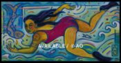 "Swimmers # 3- 10"" x 30"""