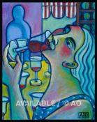 """Wine Tasting #2 - 14"""" x 18"""""""