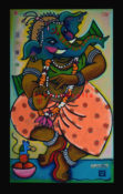 "Dancing Ganeesh - 24"" x 48""- SOLD"