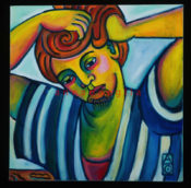 """Hairdressing 4 - 18"""" x18""""-AVAILABLE"""