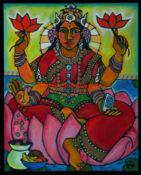 "Lakshmi - 24"" x 36""- SOLD"