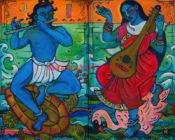 "Krishna & Saraswati - 36"" x 48"" ea- SOLD"