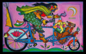 "Parvati & Ganeesh - 48"" x 30""- SOLD"