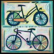 "Two Bikes #1 = 12"" x 12"""