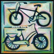 "Two Bikes #2 = 12"" x 12"""