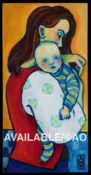 "Mother & Child #1 - 10"" x 20"""