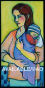 "Mother & Child #2- 10"" x 20"""
