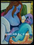 "Nursing Mother & Child #1 - 18"" x 24"""